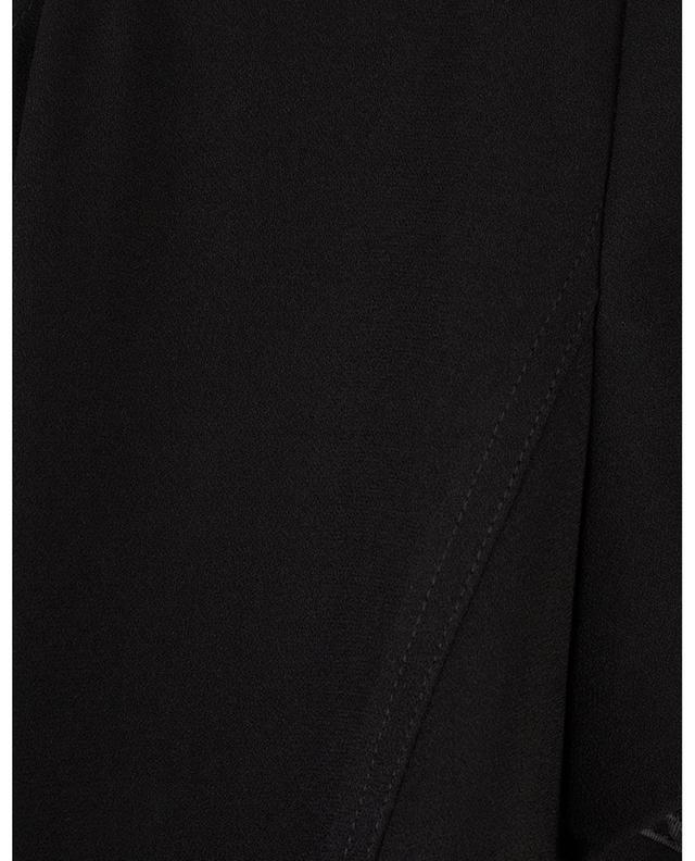 Short-sleeved flared midi crepe dress POLO RALPH LAUREN