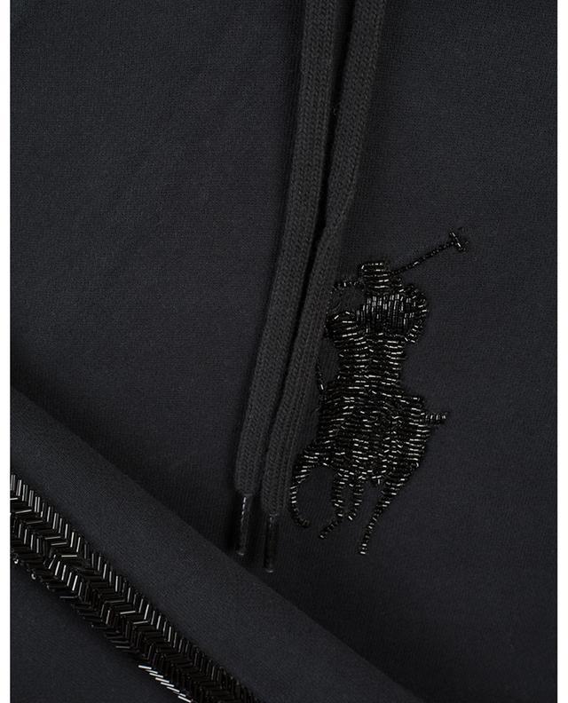 Sweat-shirt en coton brodé de perles POLO RALPH LAUREN