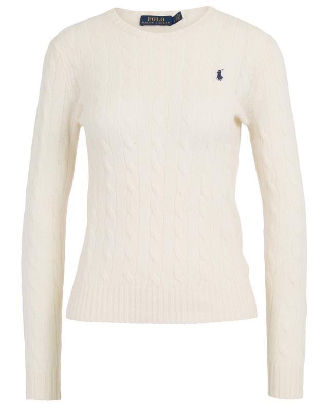Poney fitted cable knit crew neck jumper POLO RALPH LAUREN
