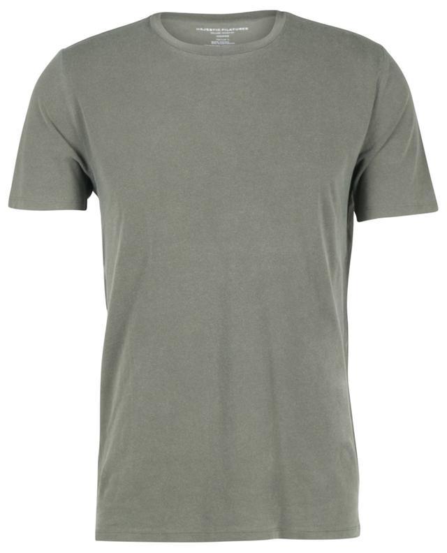 T-shirt col rond à manches courtes en coton MAJESTIC FILATURES