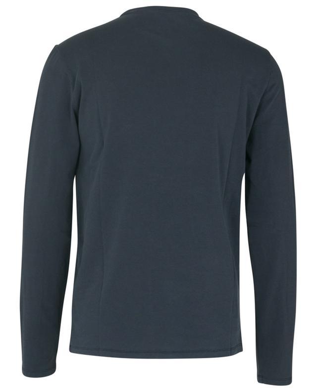 Long-sleeved cotton blend round neck T-shirt MAJESTIC FILATURES