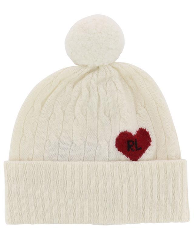 Bonnet torsadé en laine et cachemire Heart R.L. POLO RALPH LAUREN