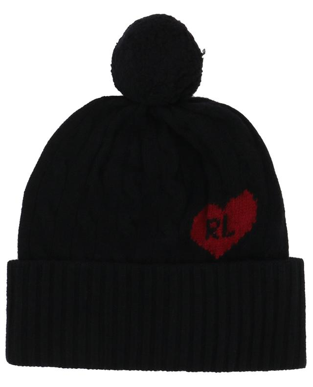 Heart R.L. wool and cashmere cable knit beanie POLO RALPH LAUREN