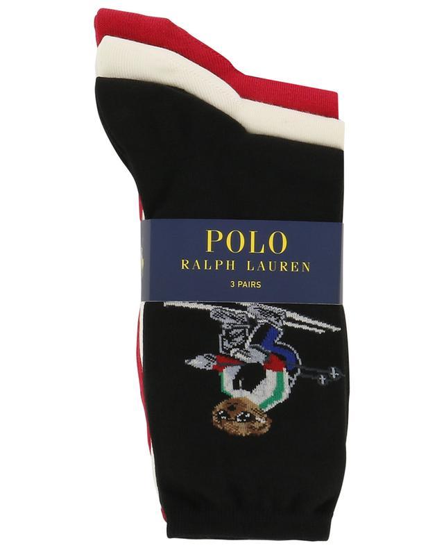 Set de trois pairs de chaussettes Winter Polo Bear POLO RALPH LAUREN