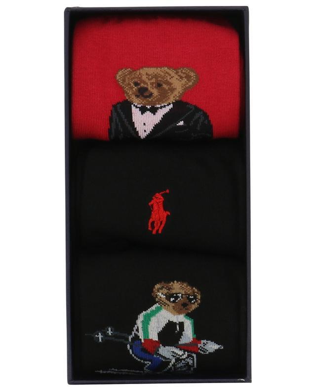 Coffret de trois paires de chaussettes en coton Polo et Polo Bear POLO RALPH LAUREN