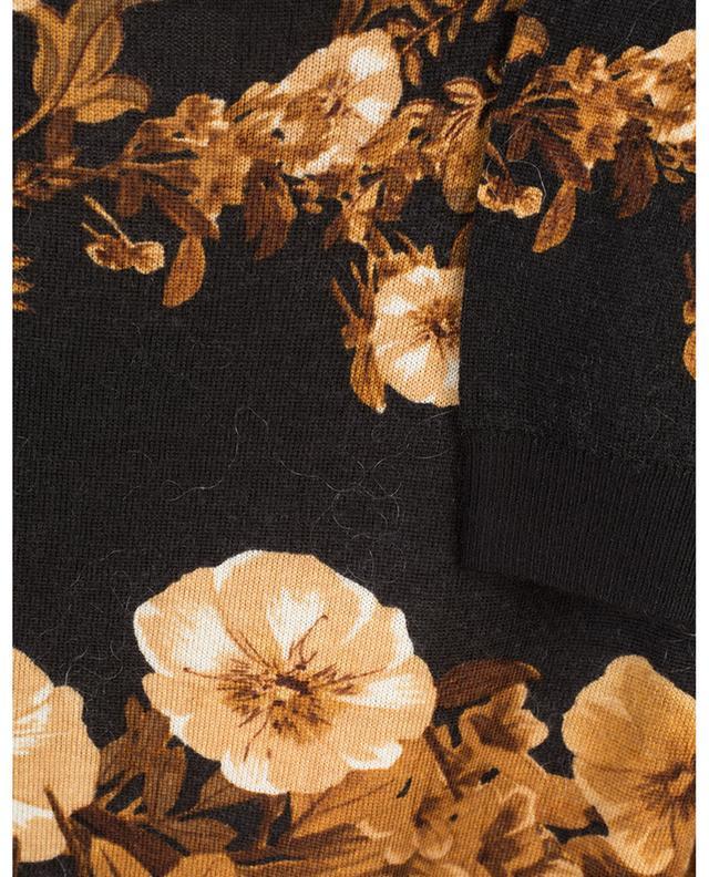 Pull fin en laine fleurie orné de dentelle TWINSET