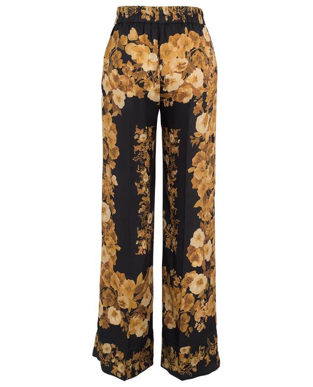 Pantalon large en sergé fleuri TWINSET