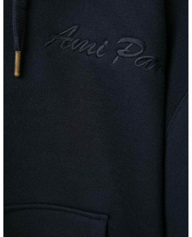 Sweat-shirt à capuche oversize brodé Ami Paris AMI