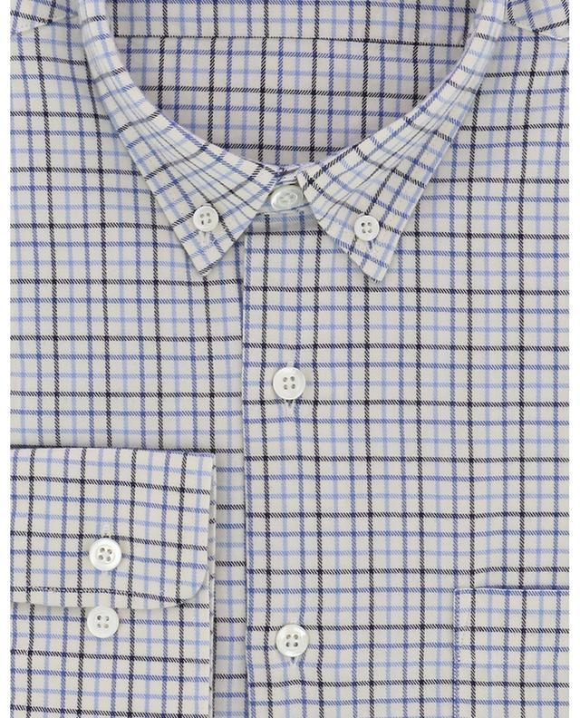 Chemise slim à carreaux bicolores brodée A.M.I. AMI
