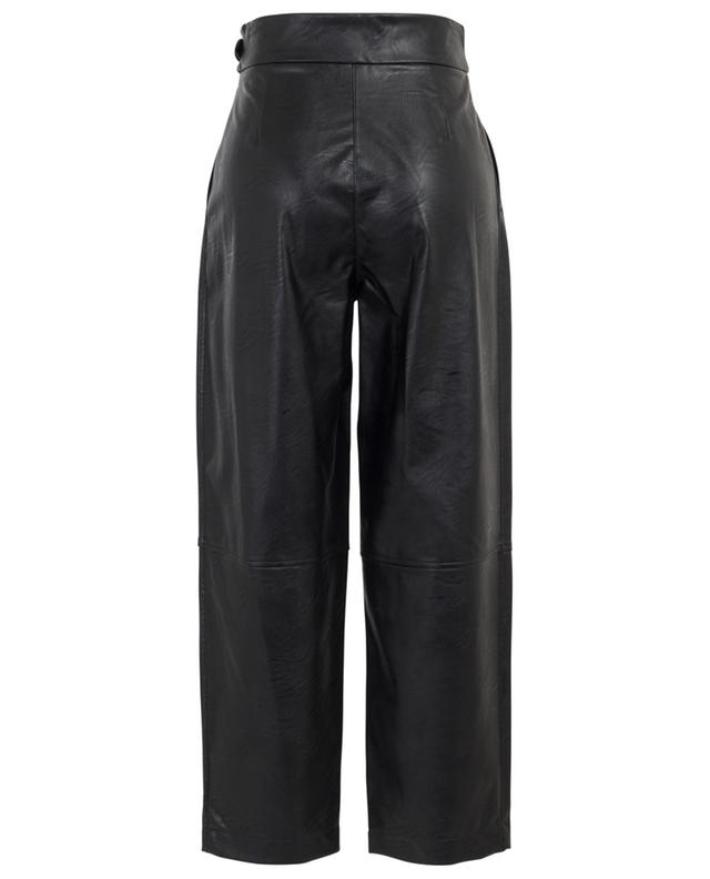 Pantalon large raccourci en similicuir TWINSET