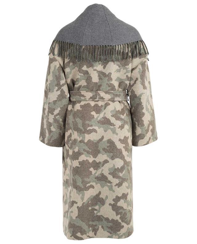 Manteau camouflage à franges TWINSET
