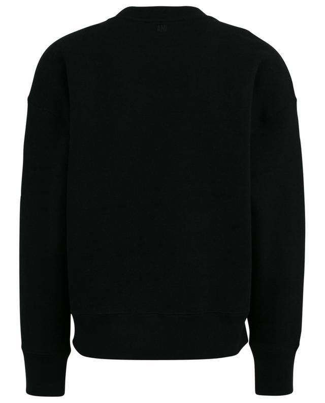 Big Ami de Coeur oversized sweatshirt with cross stich AMI