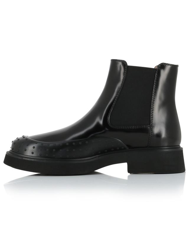 Gommino patent leather chelsea booties TOD'S