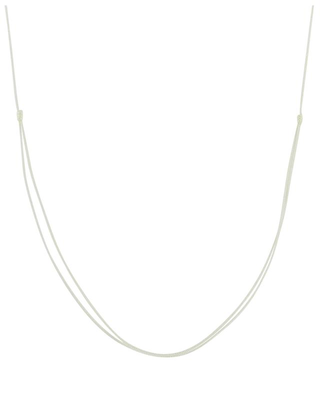 Coquillage et Strass cord necklace COQUILLAGE CRUSTACE