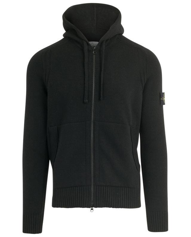 Cardigan zippé à capuche logo rose des vents STONE ISLAND