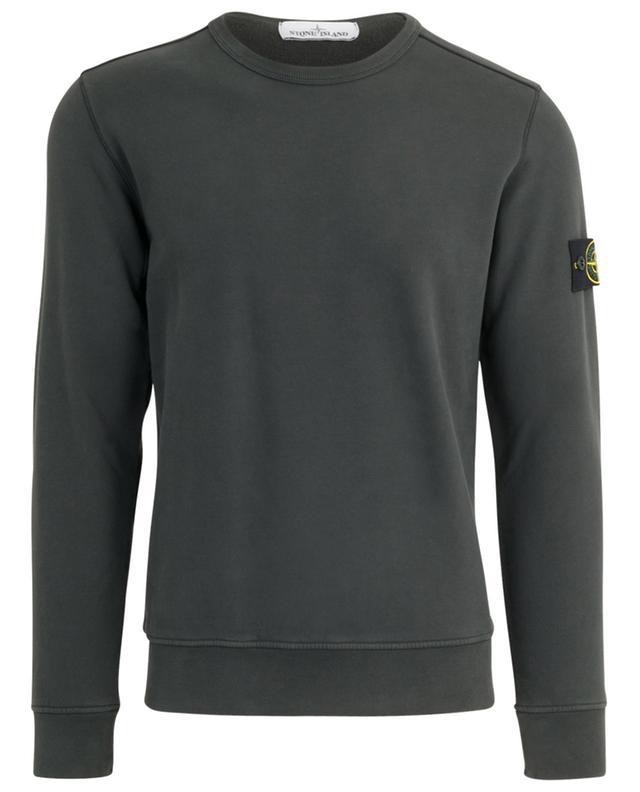 Sweat-shirt doux en coton patch rose des vents STONE ISLAND