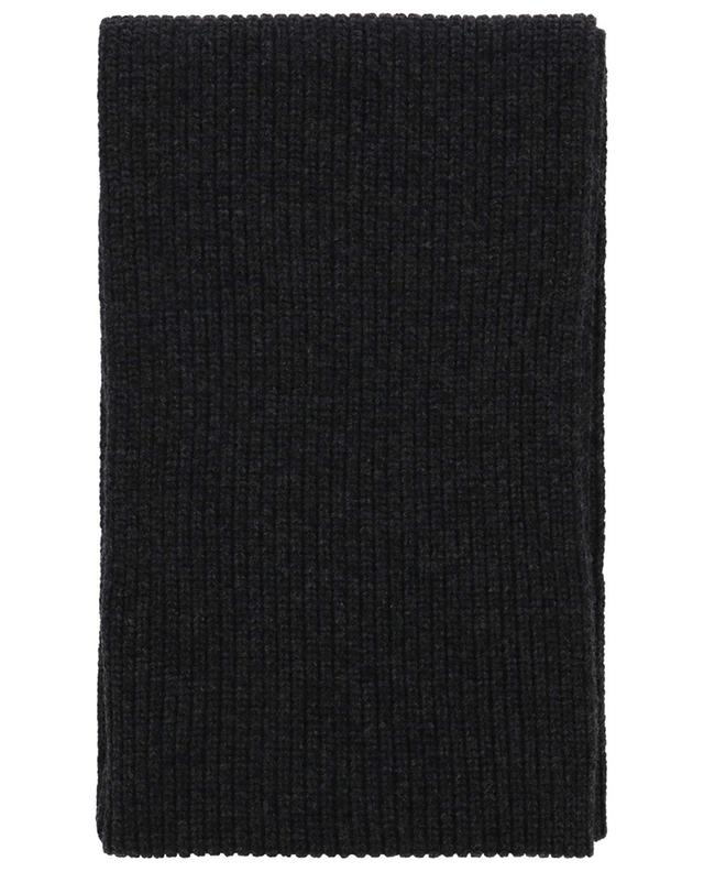 Chunky rib knit scarf with wind rose patch STONE ISLAND