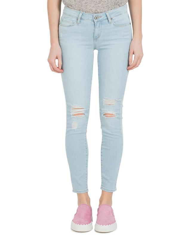 Paige jeans im slim fit und used-look hellblau A13740-BLEUC