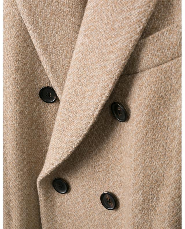 Mantel aus strukturiertem Wollmix LARDINI
