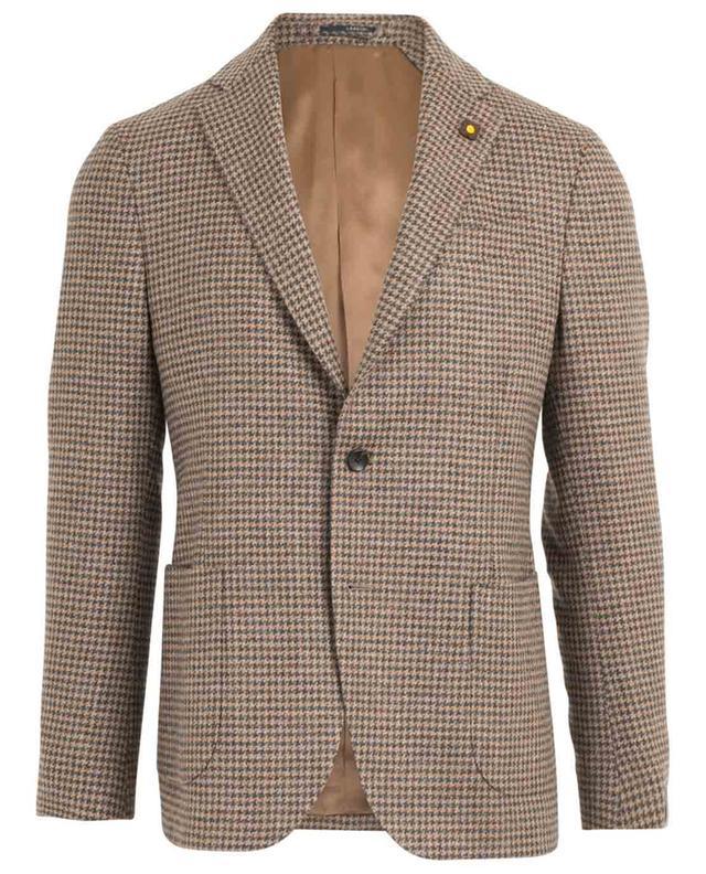 Blazer en laine motif pied-de-poule LARDINI