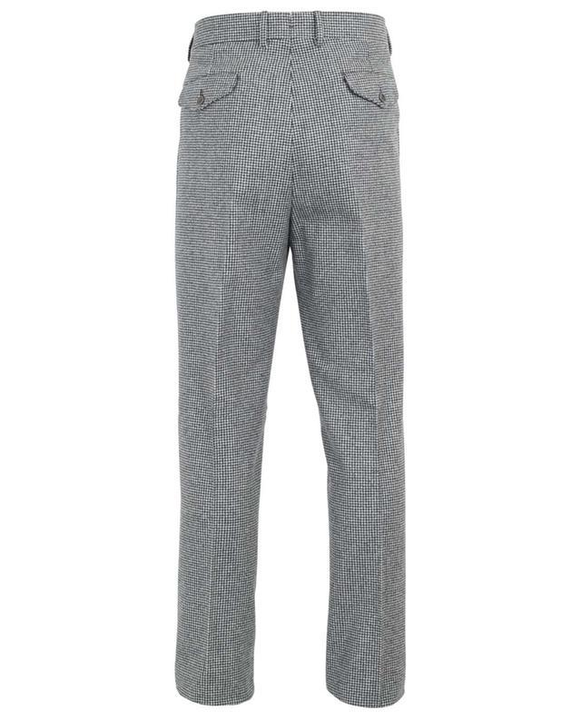 Pantalon à pinces en laine motif pied-de-poule LARDINI