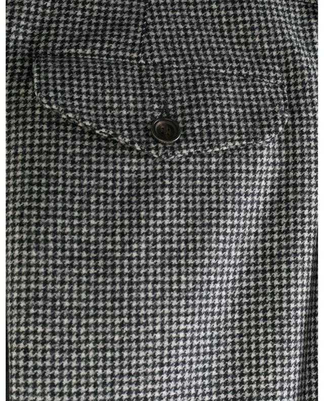 Faltenhose aus Wolle mit Hahnentrittmuster LARDINI