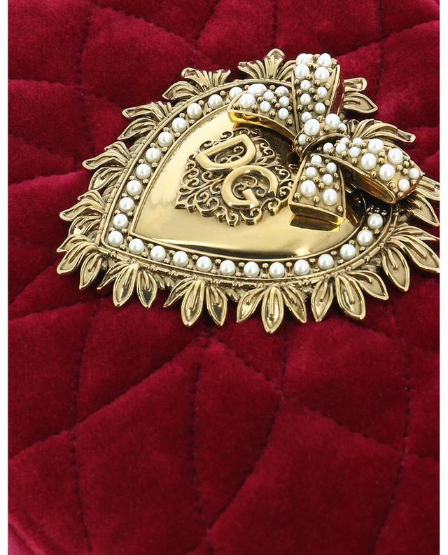 Devotion Camera quilted velvet cross body bag DOLCE & GABBANA