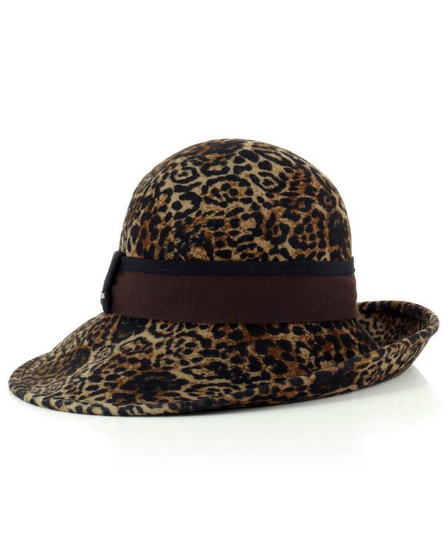 Hut aus Wolle mit Leopardenprint GI'N'GI