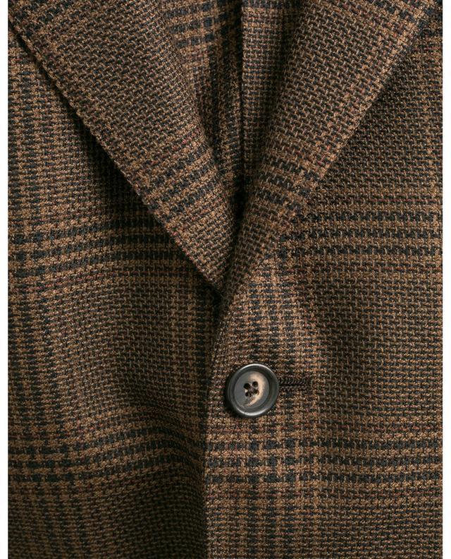 Blazer en laine texturée motif pied-de-poule LARDINI