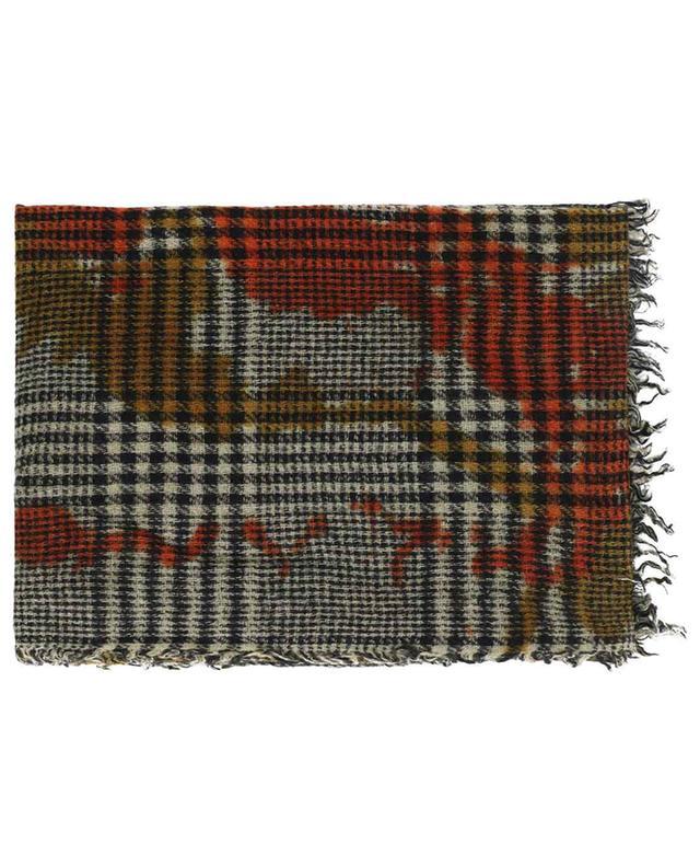 Glencheck-Karo-Schal mit Farbfleckeffekt Tache FALIERO SARTI