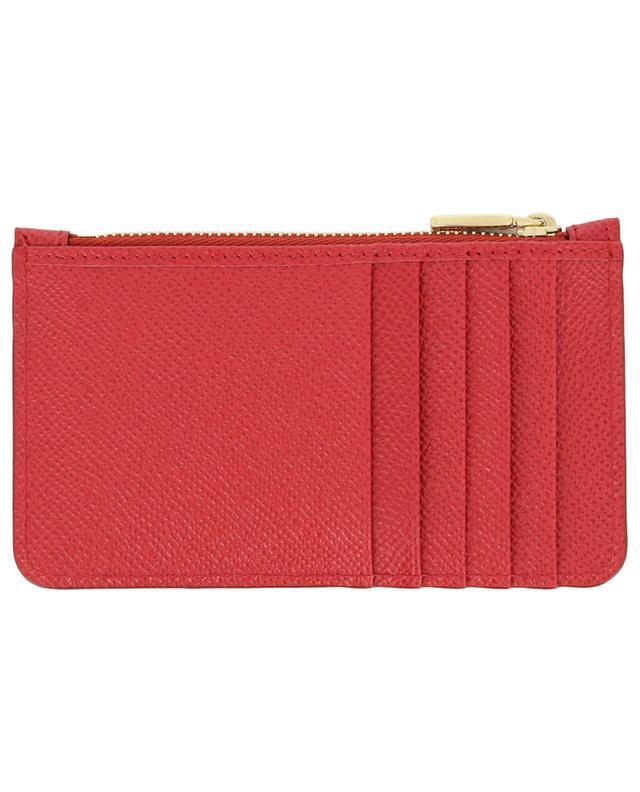 Porte-cartes zippé en cuir DG Logo Strass DOLCE & GABBANA