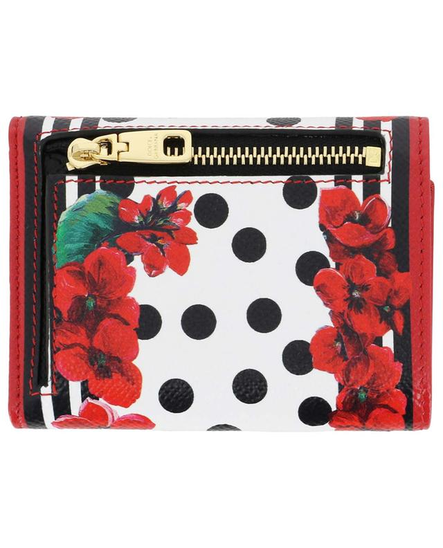 Portofino DG compact printed leather wallet DOLCE & GABBANA
