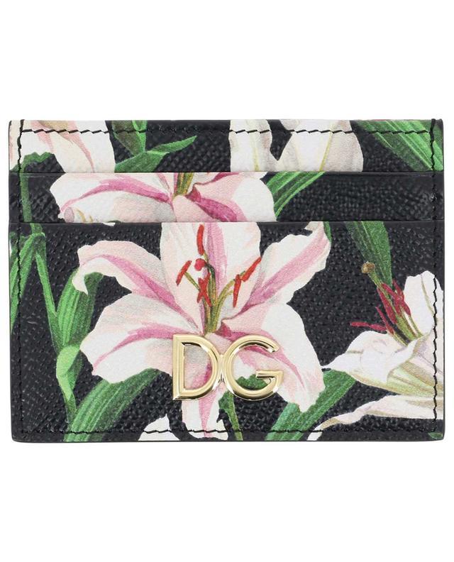 Porte-cartes imprimé fleurs de lys DG Logo DOLCE & GABBANA