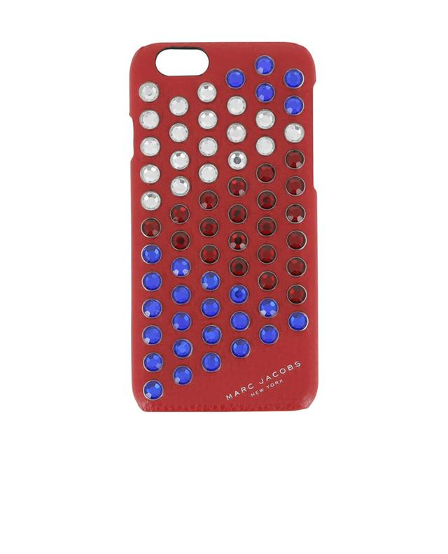 Marc by marc jacobs coque iphone 6s en cuir à strass rouge A13801-ROUG