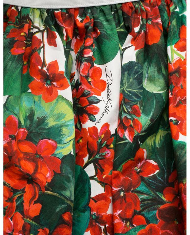 Portofino short flared floral poplin skirt DOLCE & GABBANA