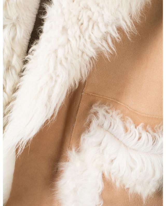 Manteau long en peau d'agneau NOVE LEDER