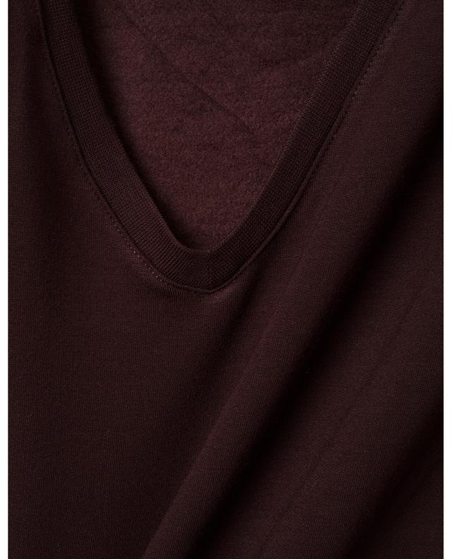 T-shirt col V French Touch Soft Touch MAJESTIC FILATURES