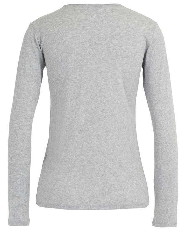 T-shirt col V en coton et cachemire MAJESTIC FILATURES