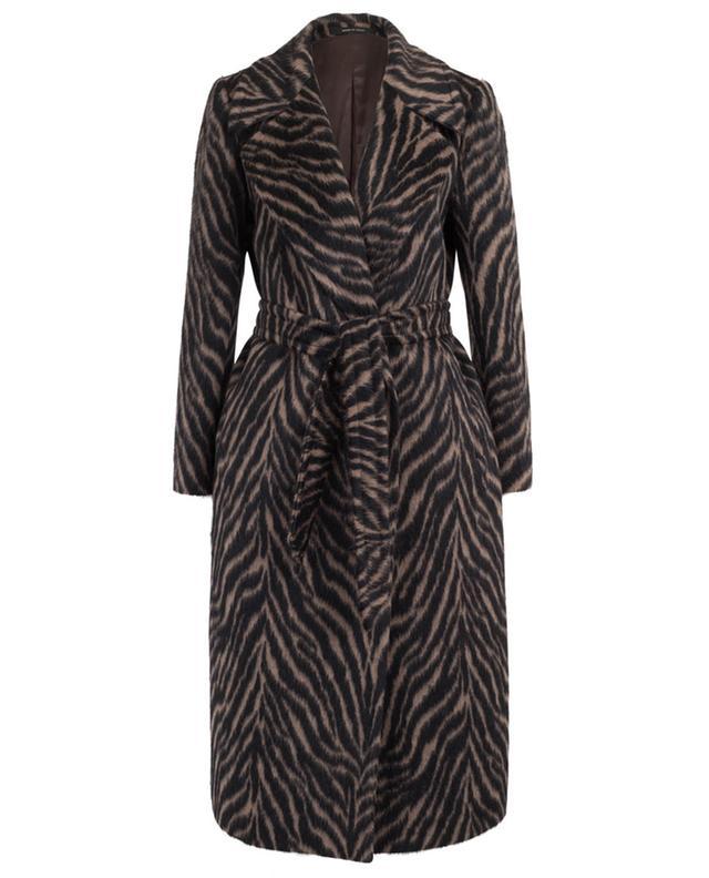 Manteau en alpaga et laine vierge imprimé zèbre TAGLIATORE