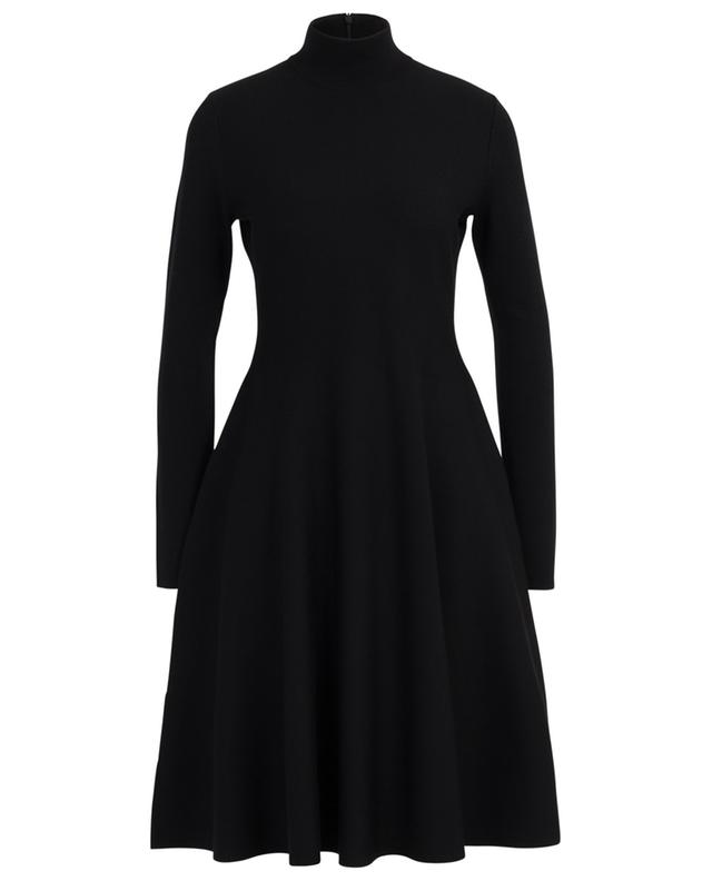 Flared knit dress with stand-up collar AKRIS PUNTO
