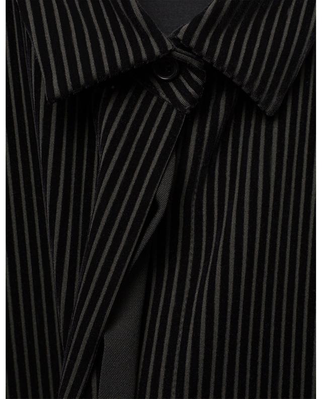 Chemise stretch ornée de velours côtelé AKRIS PUNTO