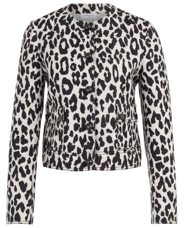 Leopard print cropped jacket AKRIS PUNTO