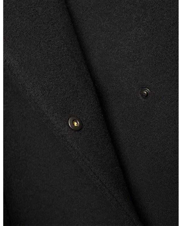 Manteau long en laine et cachemire détail zips AKRIS PUNTO