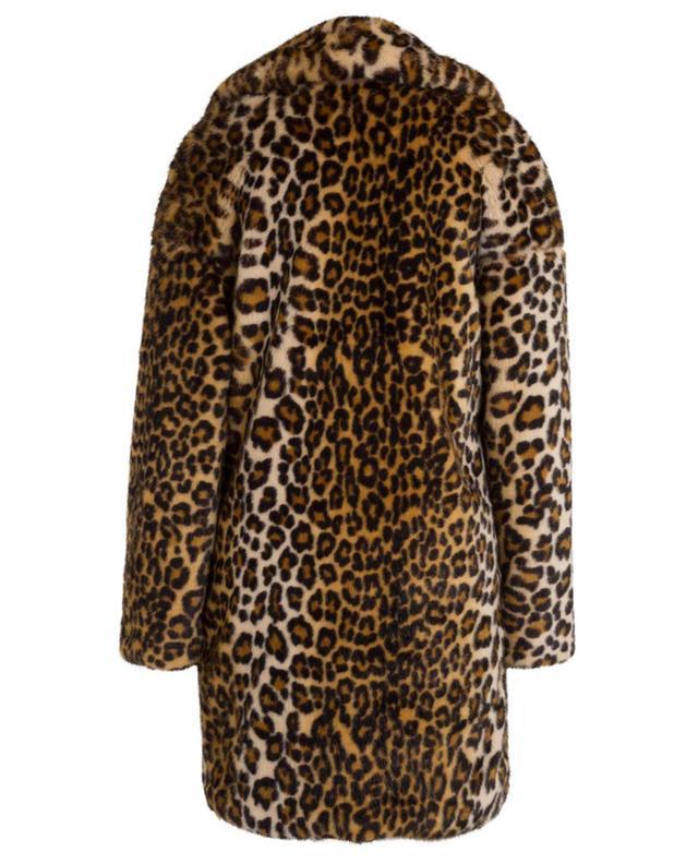 Manteau en fourrure synthétique imprimée léopard FAKE FUR