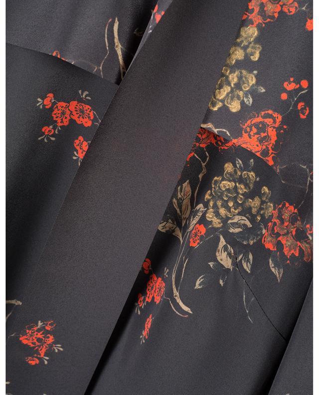 Blouse à volant et lavallière Oriental Flowers RED VALENTINO