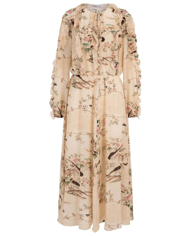 Chinese Lacquer long dress with bird print RED VALENTINO