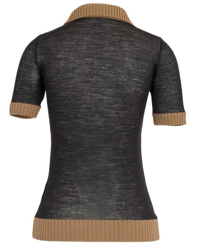 Polo tricot transparent bi-matière N°21