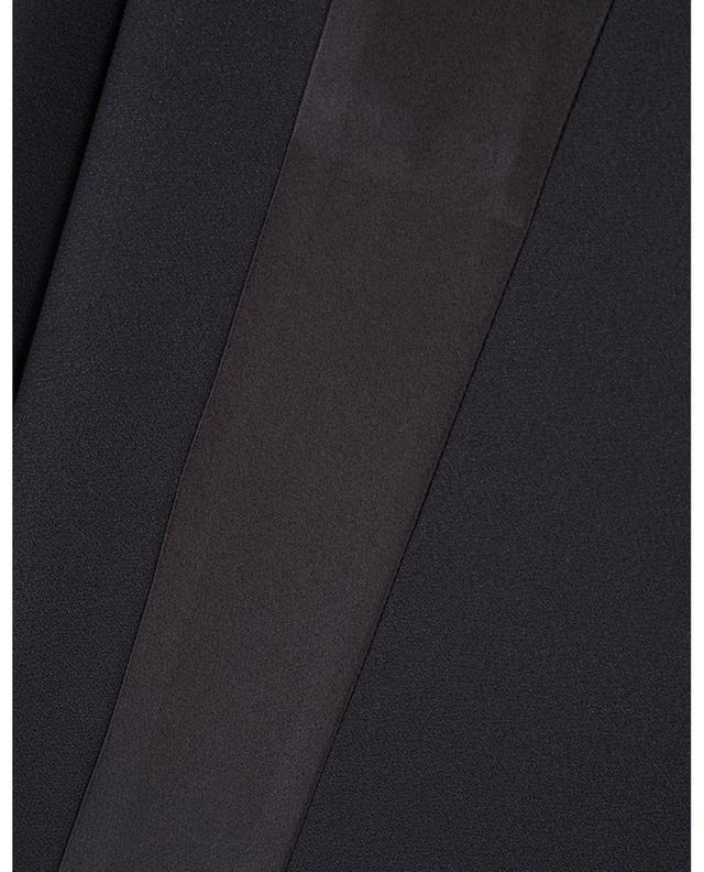 Pantalon fluide orné de bandes latérales en satin N°21