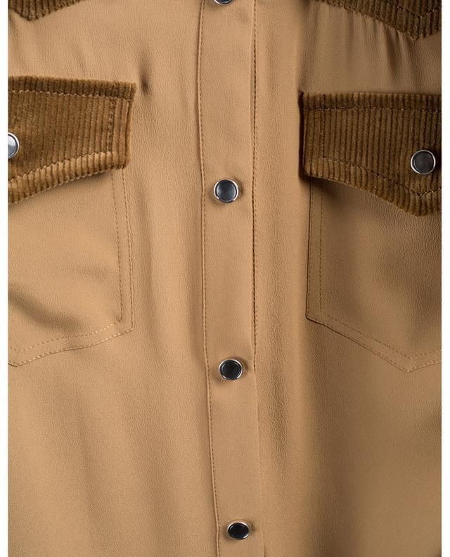 Silk blend and corduroy shirt N°21