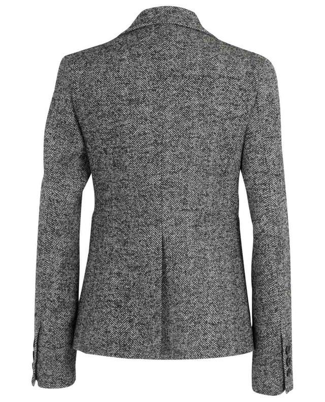 Blazer ajusté en laine à chevrons N°21
